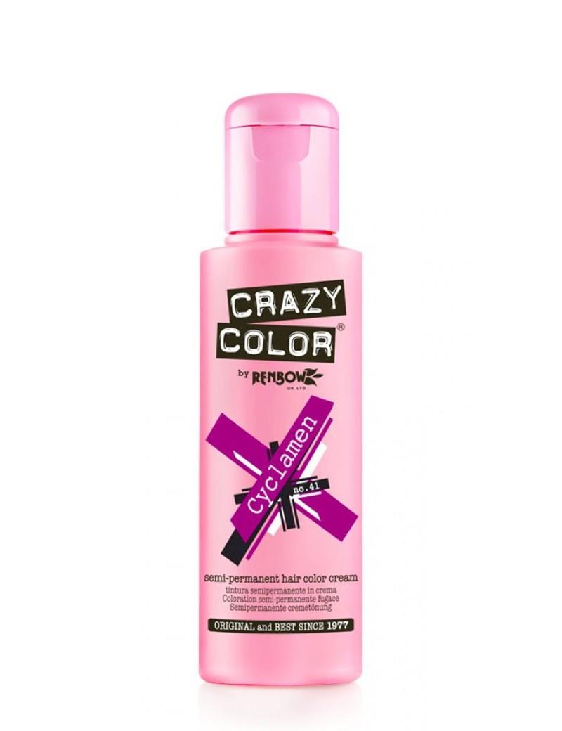 Crazy Color Semi-Permanent Hair Dye 100 ml Cyclamen