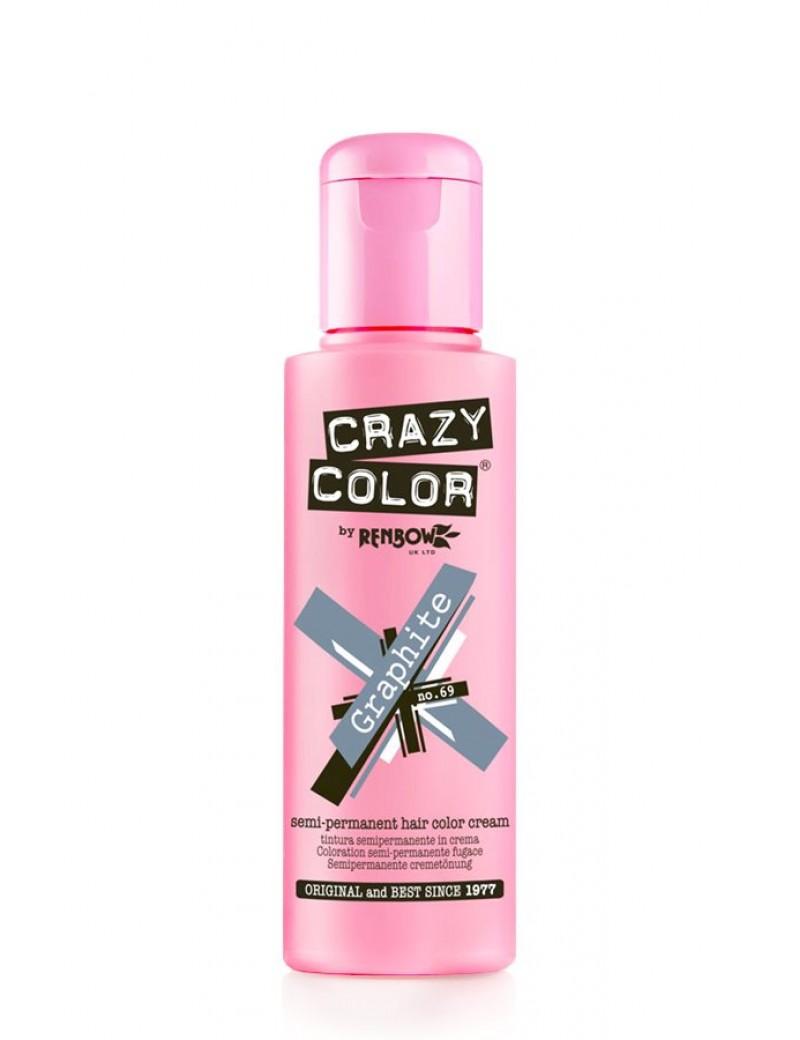 Crazy Color Semi-Permanent Hair Dye 100 ml Graphite
