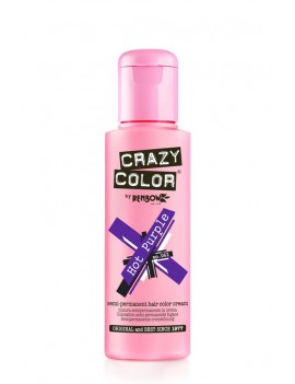 Crazy Color Semi-Permanent Hair Dye 100 ml Hot Purple