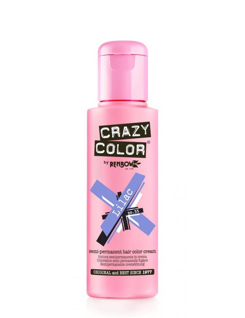 Crazy Color Semi-Permanent Hair Dye 100 ml Lilac