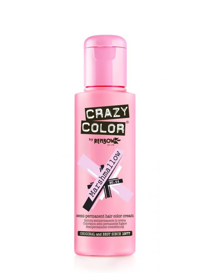 Crazy Color Semi-Permanent Hair Dye 100 ml Marshmallow Pink