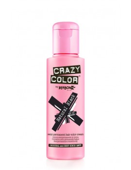 Crazy Color Semi-Permanent Hair Dye 100 ml Natural Black