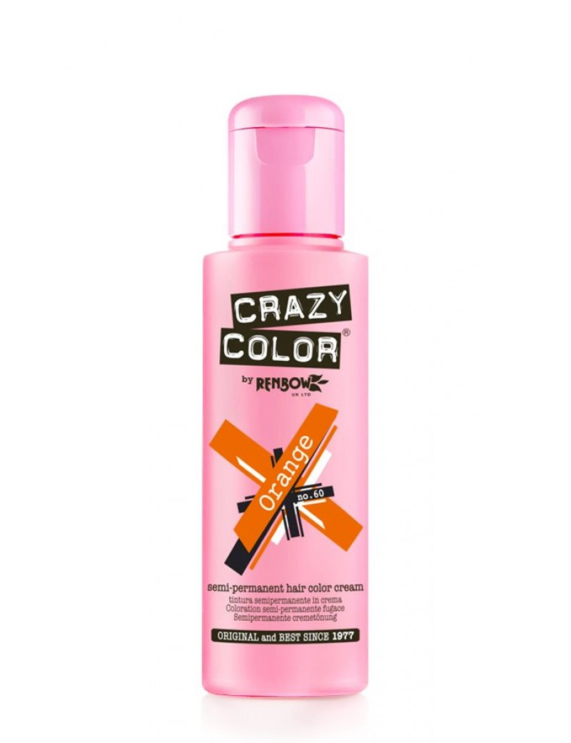 Crazy Color Semi-Permanent Hair Dye 100 ml Orange