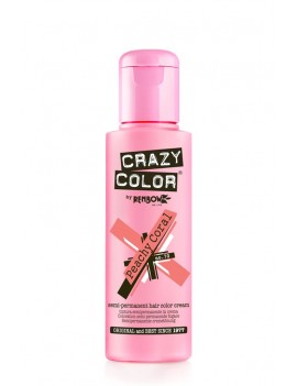 Crazy Color Semi-Permanent Hair Dye 100 ml Peachy Coral