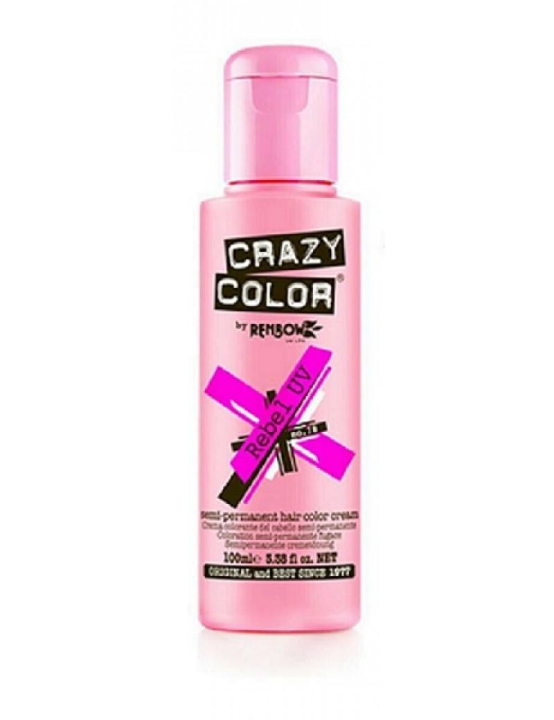 Crazy Color Semi-Permanent Hair Dye 100 ml Rebel UV