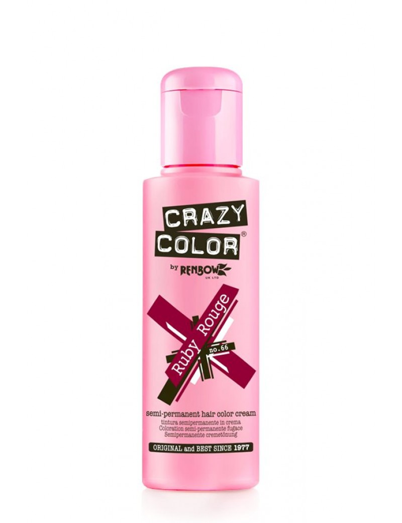Crazy Color Semi-Permanent Hair Dye 100 ml Ruby Rouge