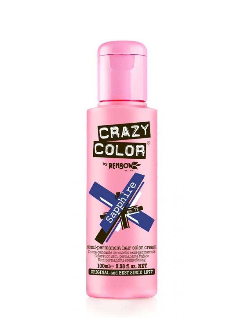 Crazy Color Semi-Permanent Hair Dye 100 ml Sapphire