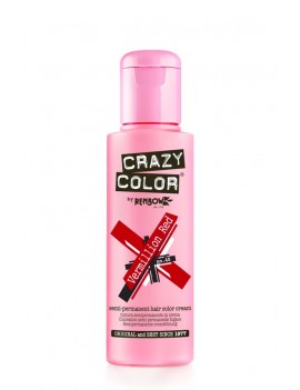 Crazy Color Semi-Permanent Hair Dye 100 ml Vermillion Red