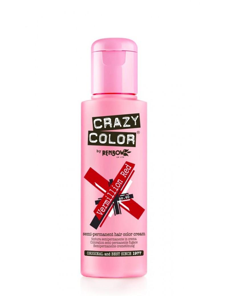 Crazy Color Semi-Permanent Hair Dye 100 ml Vermillion Red