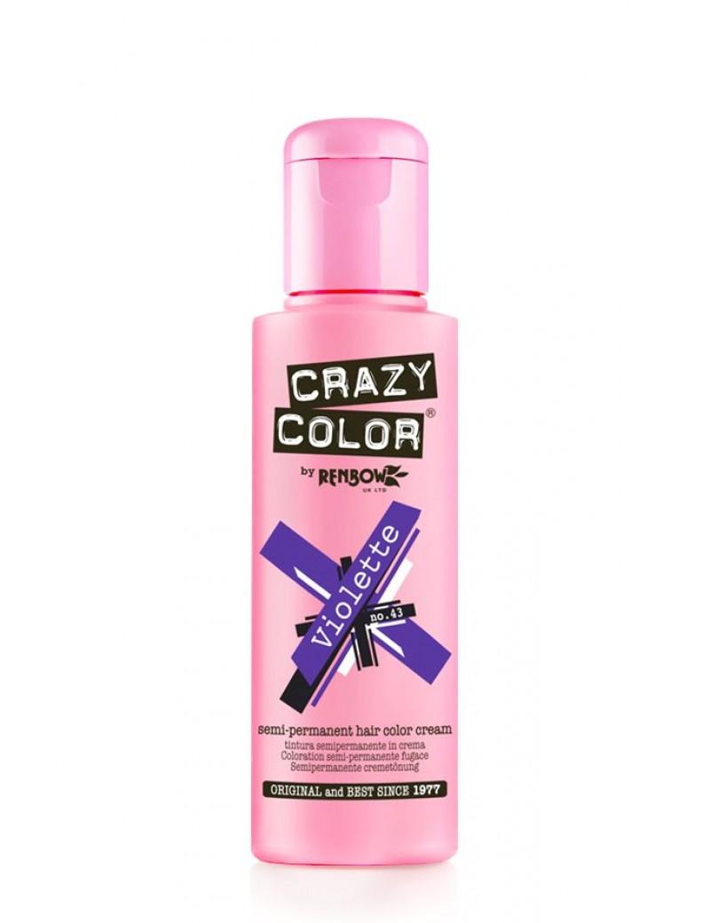 Crazy Color Semi-Permanent Hair Dye 100 ml Violette