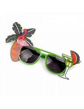 Glasses Hawaiian Beach Party flamingo palm tree novelty sunglasses Folat FO-00726