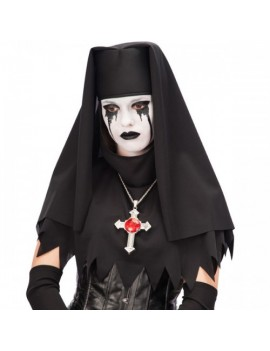 Nun Gothic Headdress Black