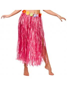 Hawaiian hula grass skirt Pink 80cm Caribbean beach party Folat FO-20523