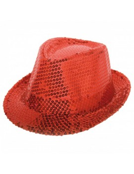 Sequin Red Trilby Hat