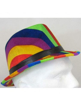 Trilby Pork Pie Hat Multicoloured Rainbow Creative Collection H7783