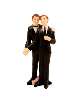 Wedding Cake Topper Gay Couple Grooms Figure Folat FO-21257