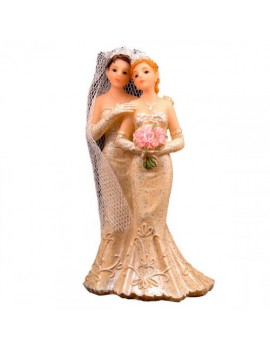 Wedding Cake Topper Gay Couple Brides Figure Folat FO-21258