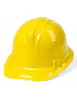 Builders Yellow Plastic Hard Hat