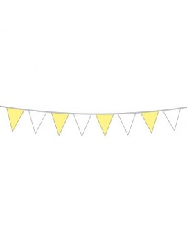 Yellow and White Coloured Flag Pennant Bunting FO-07446