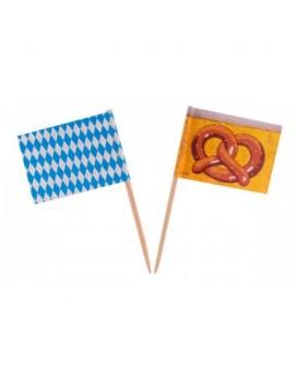 Oktoberfest Bavarian Flag Cocktail Sticks