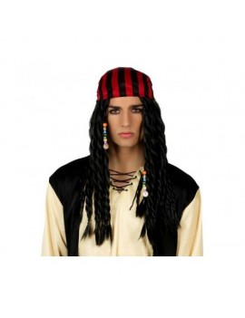 Pirate Captain Wig With Bandana Scarf Atosa AT-16622