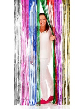 Shimmer door curtain foil multi coloured Folat FO-09205