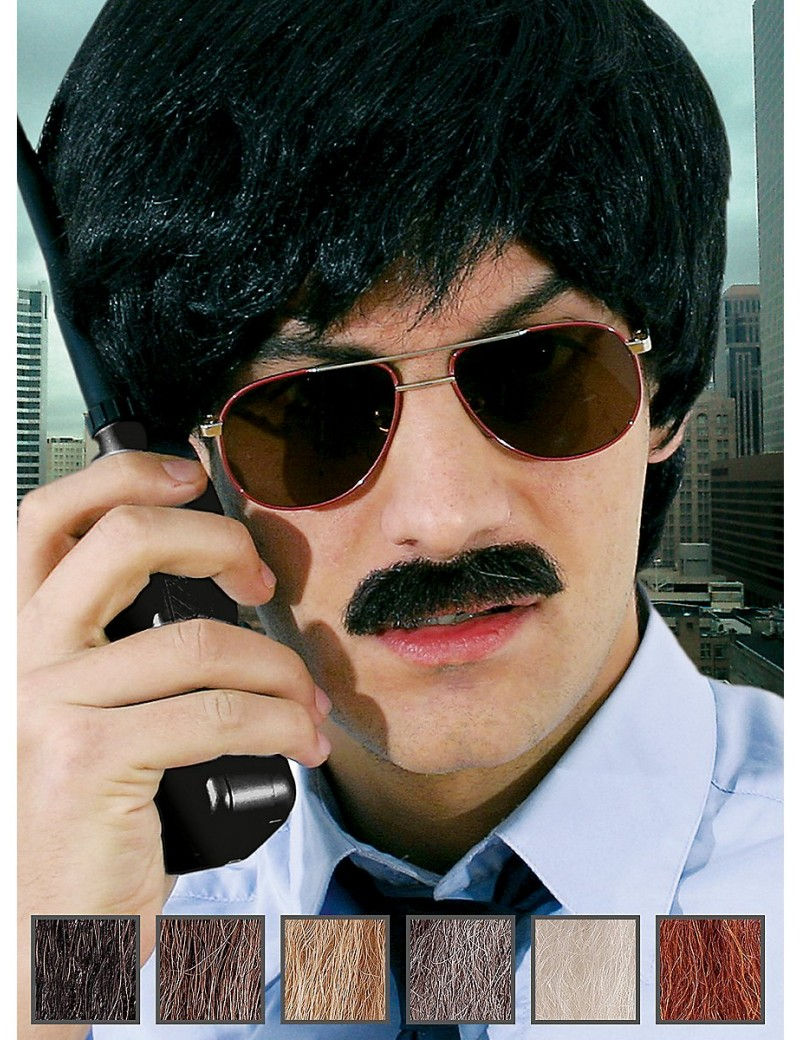 Retro Detective Professional Real Hair Moustache