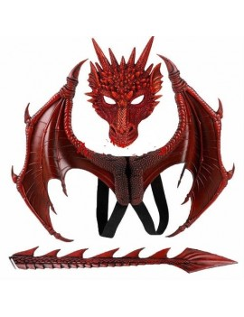 Dragon Costume Accessory Set Red