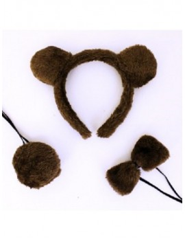 Animal Ears And Tail Set Bear 16304