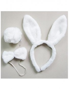 Animal Ears And Tail Set Bunny White 70606