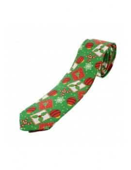 Christmas Tie Baubles Holly Candy Canes