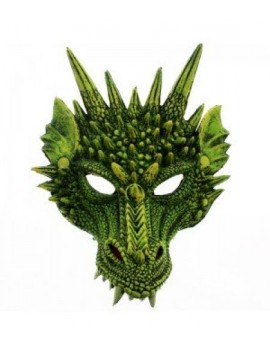 Dragon rubber mask green E Apollo 81217