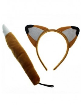 Animal Ears And Tail Set Fox 81081