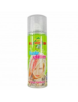 Coloured Hair Spray Glitter Green