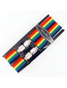 Gay Pride Rainbow Flag Suspender Braces 31544