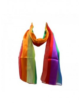 Rainbow Satin Neck Scarf