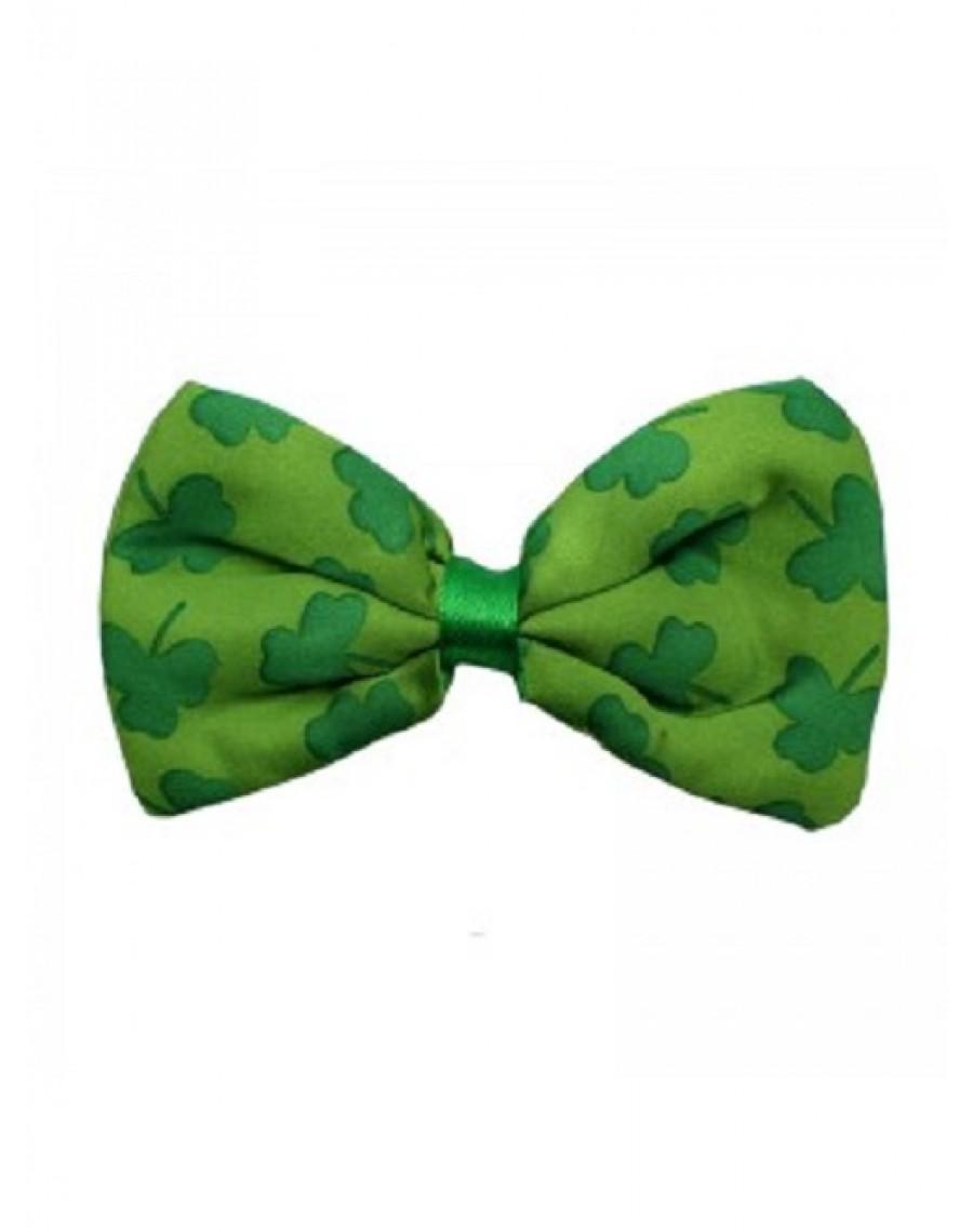 IRISH TRILBY HAT AND BOW TIE SHAMROCKS BUCKLE ST PATRICKS DAY PARTY FANCY DRESS