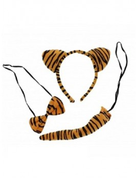 Animal Ears And Tail Set Tiger 77288