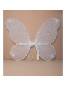 White Silver Glitter Fairy Wings
