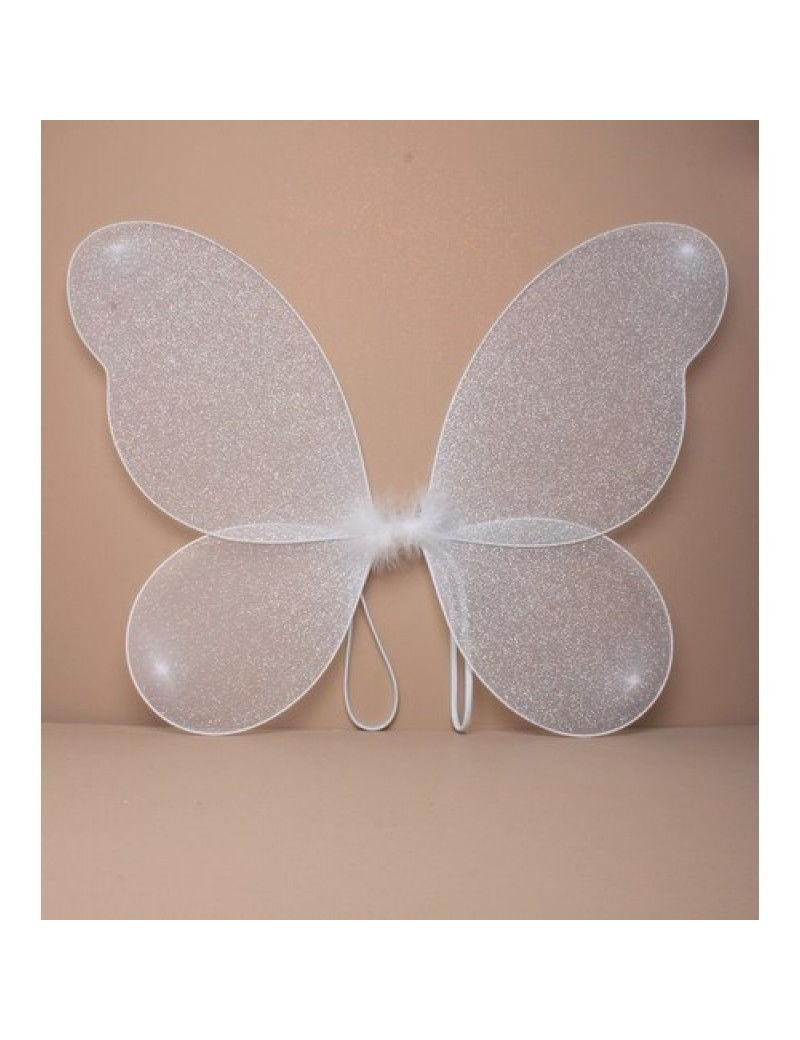 White Silver Glitter Fairy Wings