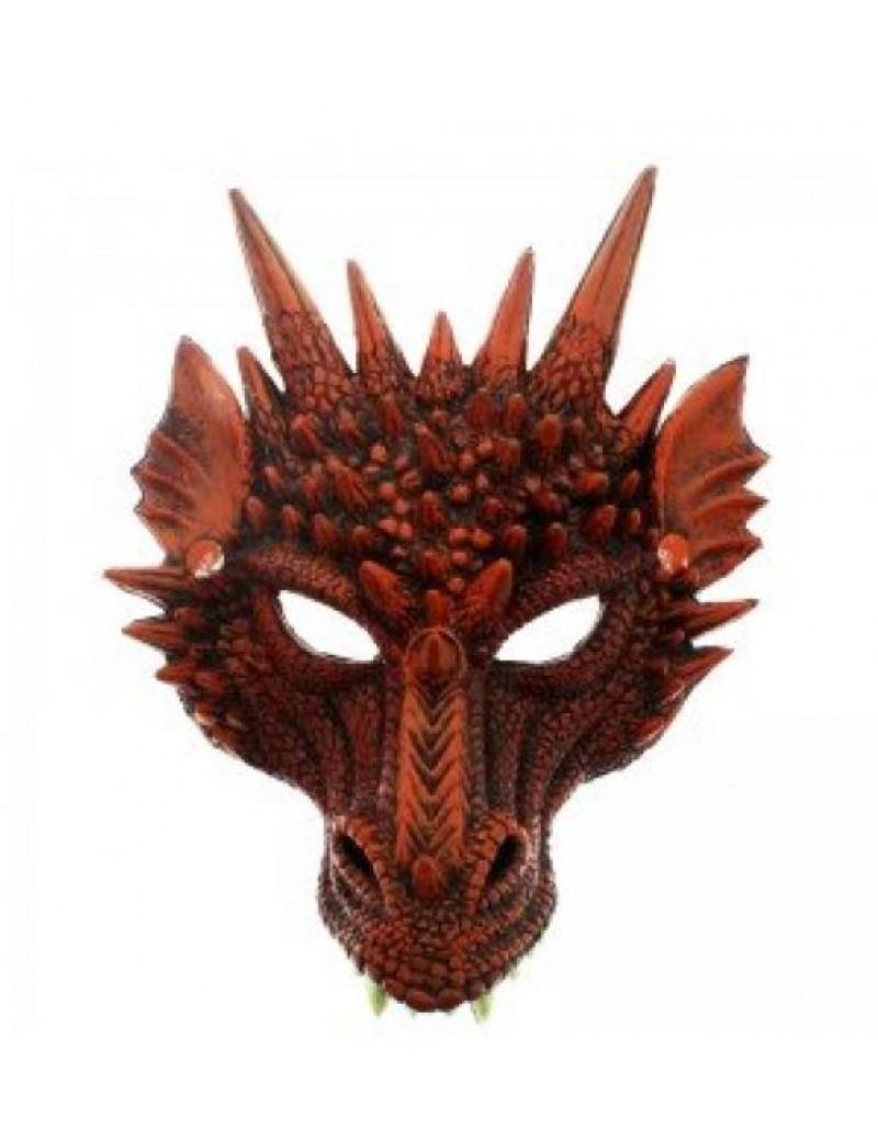 Dragon rubber mask red E Apollo 81215