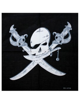 Pirate Skull Cross Bones Bandana Neck Scarf