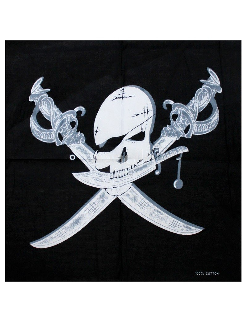 Pirate skull cross bones bandana scarf E Apollo 10416