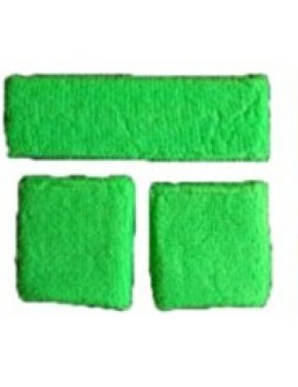 Neon Green Sweatband Set