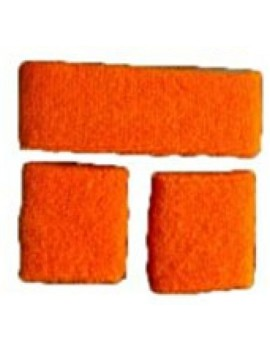 Neon Orange Sweatband Set