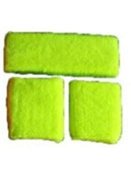 Neon Yellow Sweatband Set