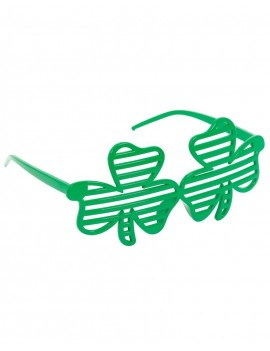 Irish St Patricks Day Clover Leaf Shutter Glasses Henbrandt 63662