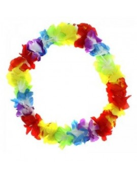 Hawaiian multi coloured flower garland E Apollo 85046