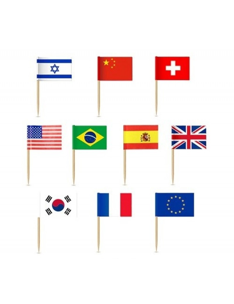 Mini Countries National Flag Cupcake Toppers