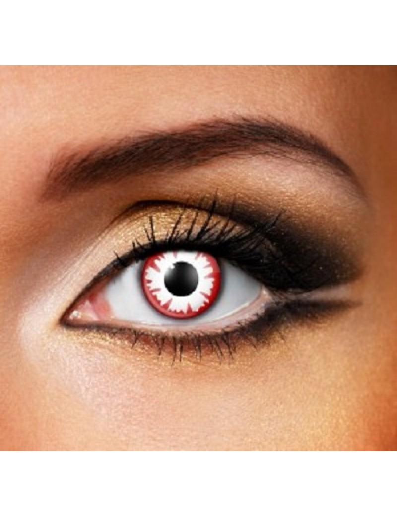 White Demon Eye 1 Day Coloured Contact Lenses